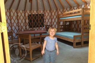 Inside of yurt - Shawme-Crowell
