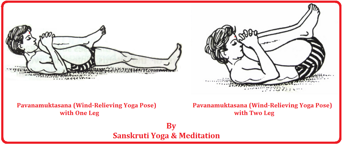 Pavanamuktasana Wind Relieving Yoga Pose