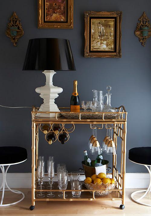 le bar cart ou chariot bar boh decoration lifestyle. Black Bedroom Furniture Sets. Home Design Ideas