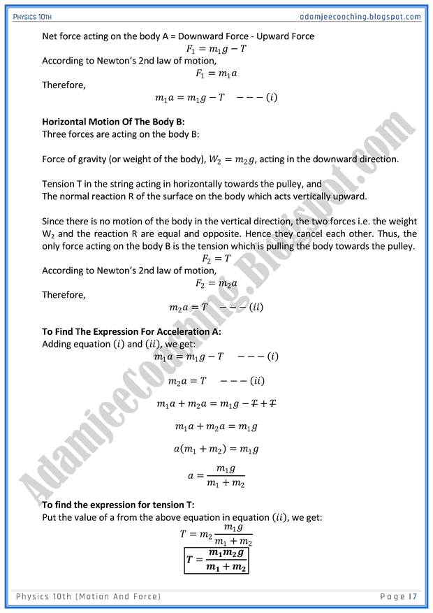 motion-and-force-question-answers-physics-10th