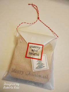 SRM Stickers Blog - Mini Christmas Cards by Roberta - #christmas #mini #cards #stickers #twine #bag #gift #glassine