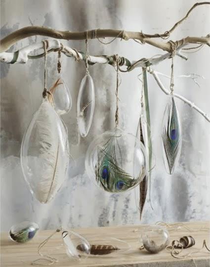 kuş tüyü dekoratif eşyalar