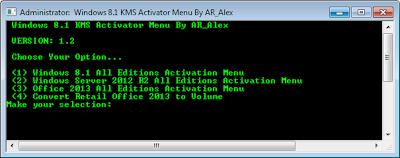 Windows 8.1 KMS Activator By AR_Alex