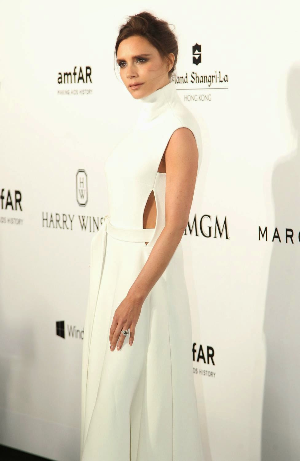 Singer, Businesswoman, Fashion Designer, Model @ Victoria Beckham attends the inaugural Hong Kong amfAR Charity Party