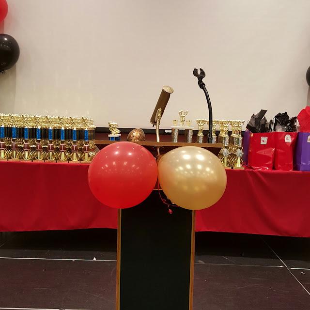 setup, podium, speaker, banquet