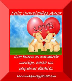 Tarjeta de Cumpleaños Romantica con Cachorros