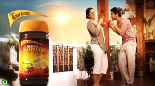 Surya fans club: Suriya Jyothika New Nescafe Sunrise Ad Posters Stills ...