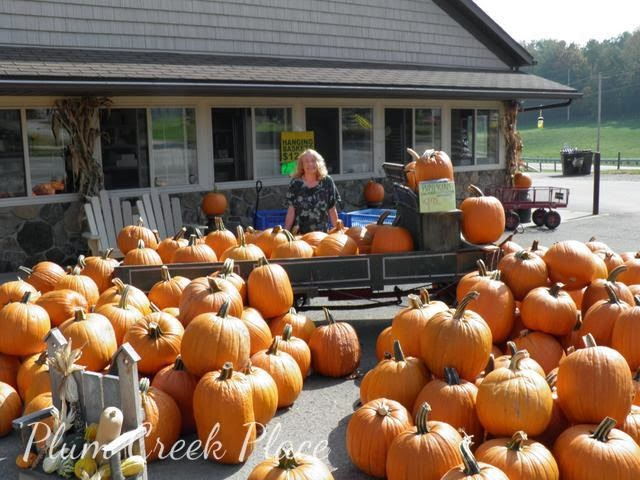 pumpkin cart display