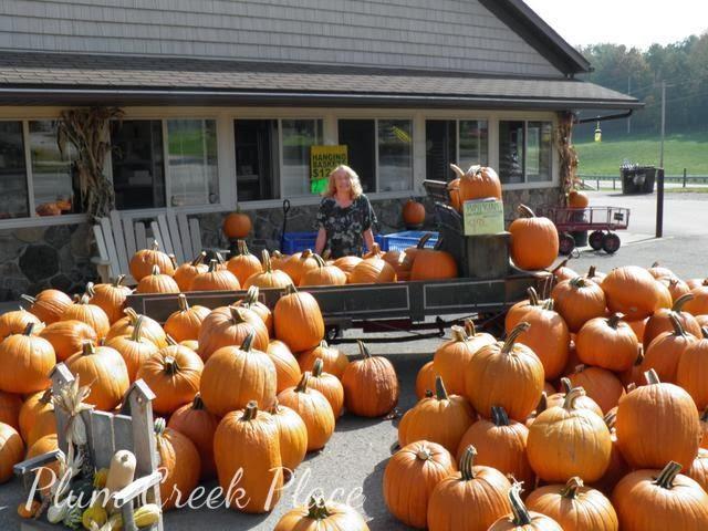 pumpkin cart display
