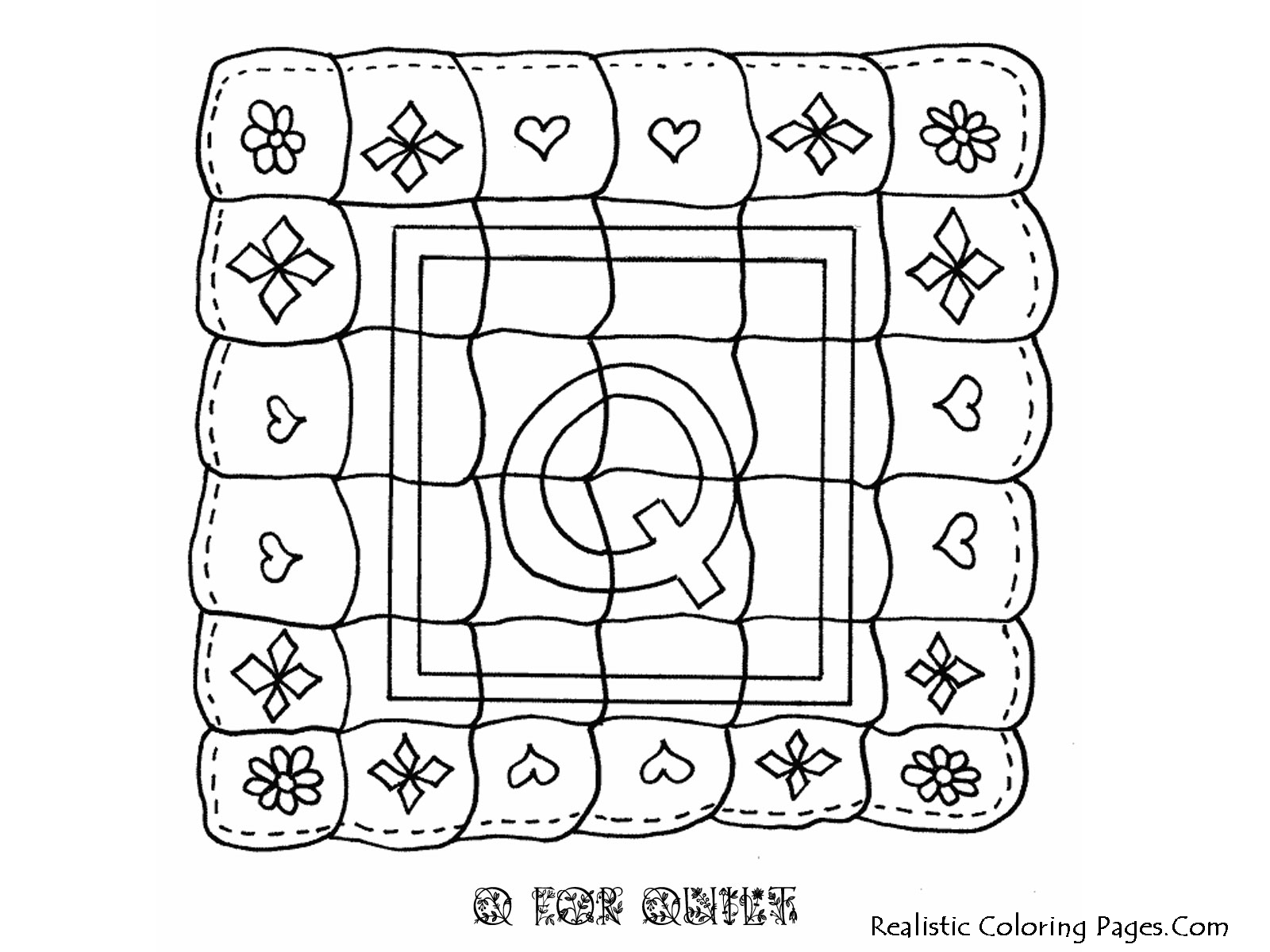 Q Letter Alphabet Coloring Pages