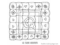 QUILT Alphabet Coloring Pages