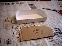 Cardstock molds for bridge abutments