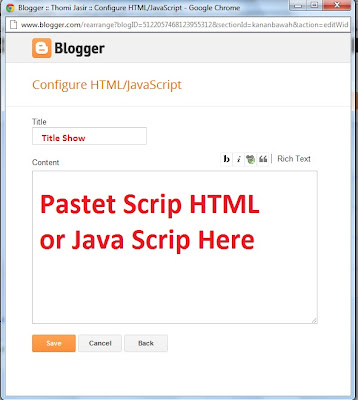 Pastet HTML/Javascrip