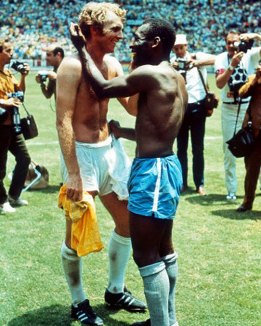 Bobby Moore and Pele