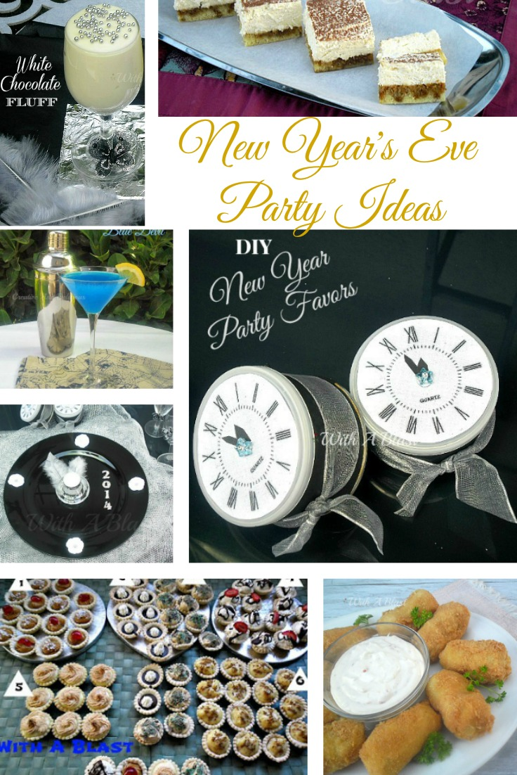 20 New Year's Eve Party Ideas ~ Cocktails, sweet & savory Snacks, Finger food, Decor crafts and more to ring in the New Year cheerfully !