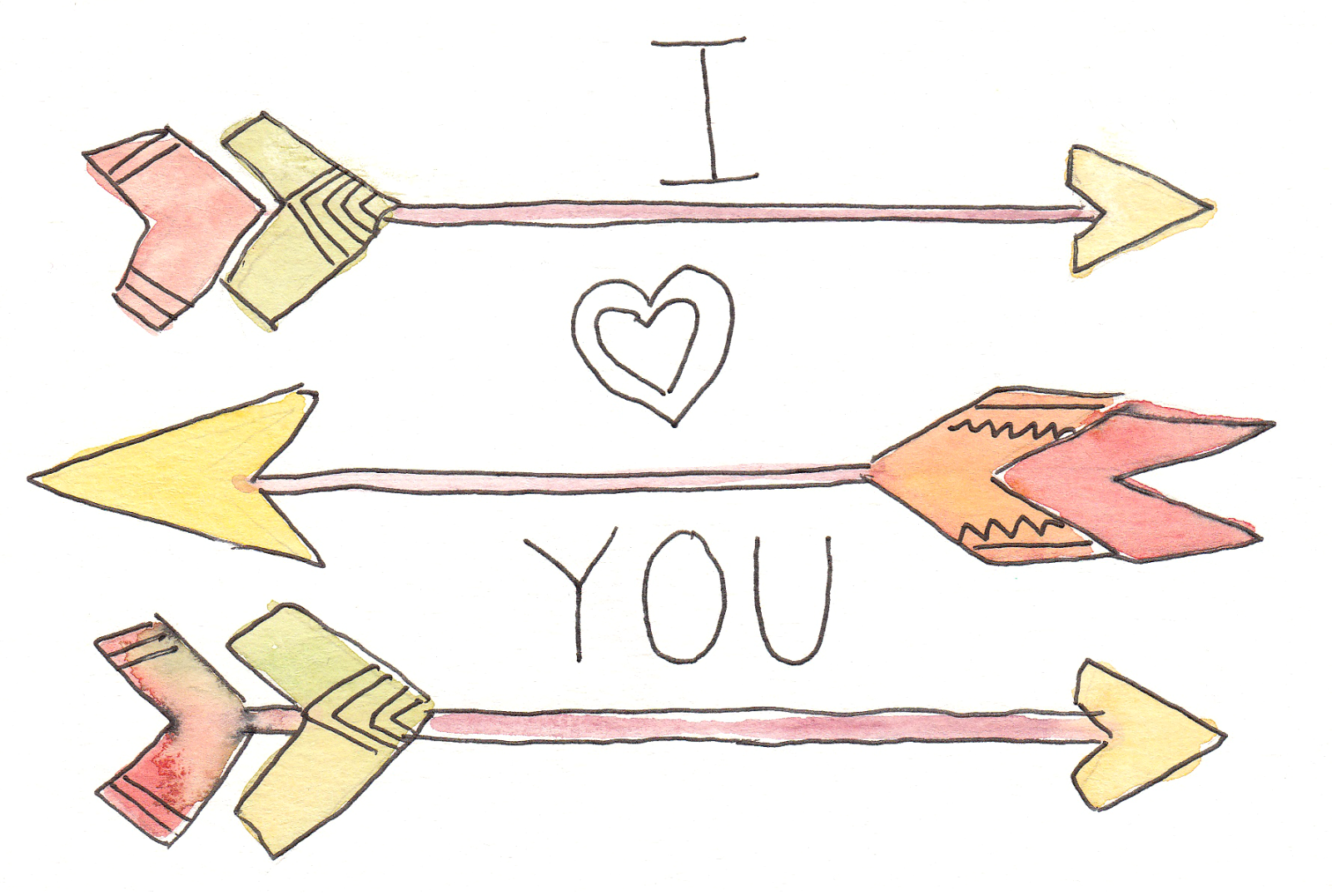 Free Printable Watercolor Valentine's Cards and Clip Art from Grow Creative.