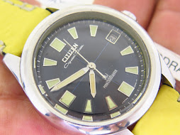 CITIZEN CRYSTAL DATE BLACK DIAL PARA150mWATER - AUTOMATIC 33 JEWELS