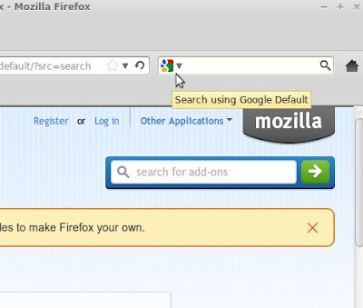 Menyeting Google menjadi Default Firefox Search Engine di Linux Mint 13