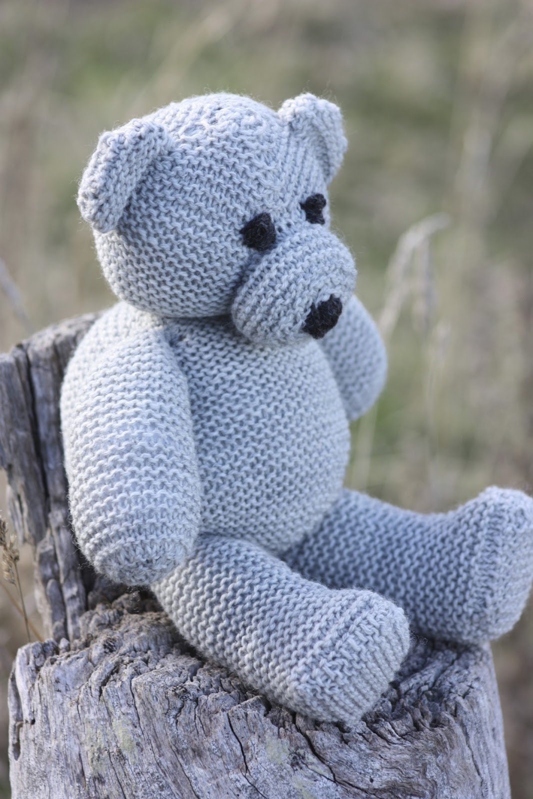 Coal Valley View: Classic Knitted Teddy Bear