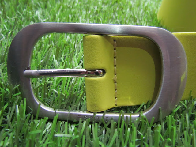 Neon belt with silver buckle