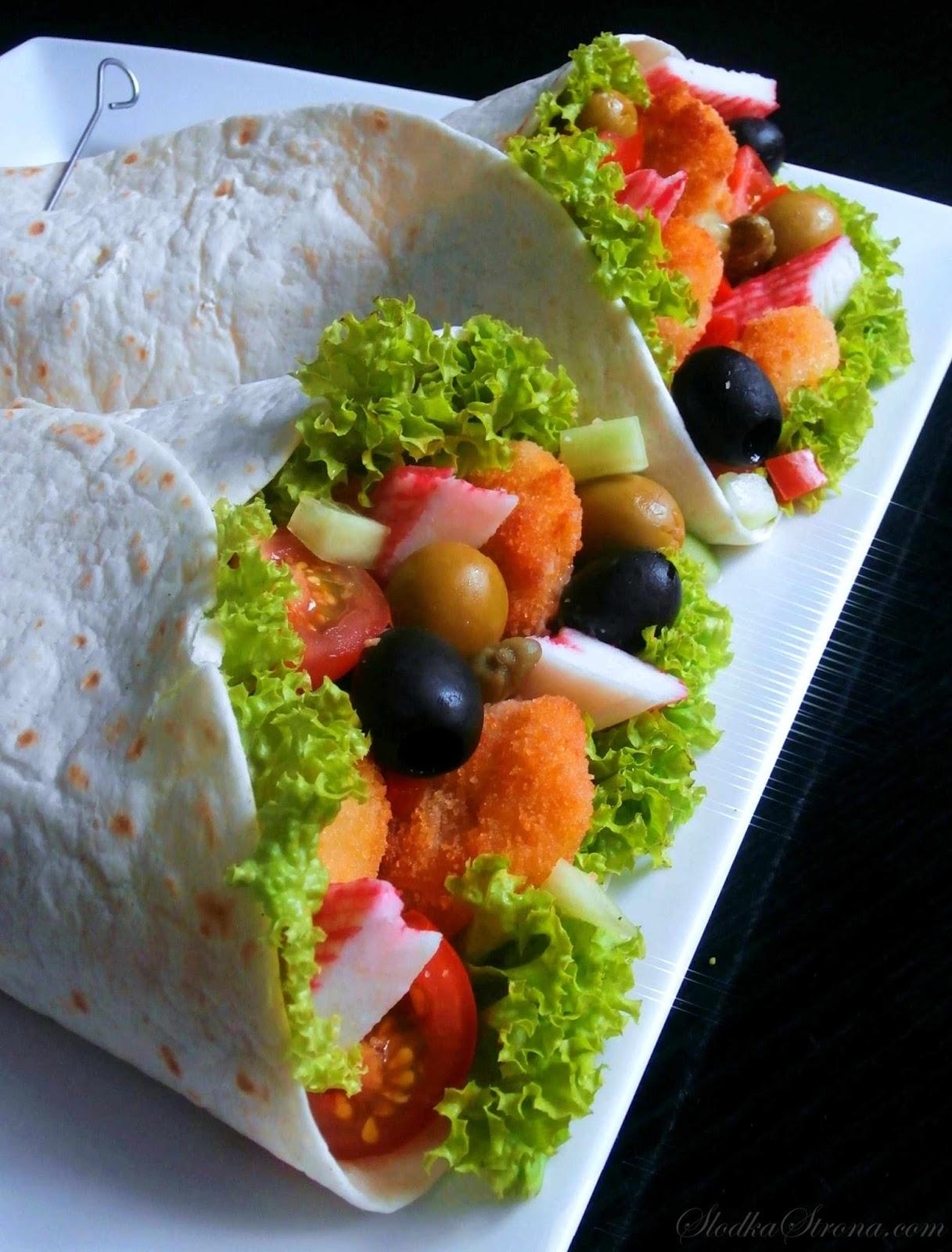 tortilla z krewetkami przepis