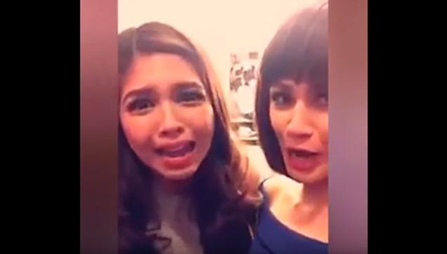 Maine Mendoza and Valeen Montenegro's video on Snapchat.