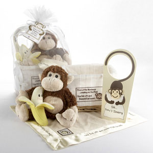 Monkey baby basket