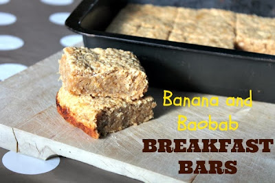 Banana and Baobab Breakfast Bars