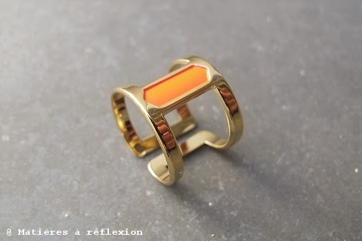 bague reda laqué rouge orange anne thomas