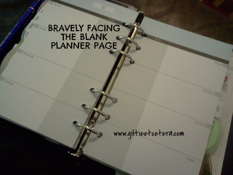 blank paper, planner, franklin covey