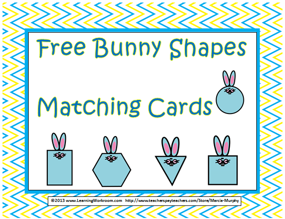 http://www.teacherspayteachers.com/Product/Free-Bunny-Shapes-Matching-Cards-Set-for-Kindergarten-598868