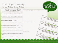 Miss, Hey Miss! End of year Survey