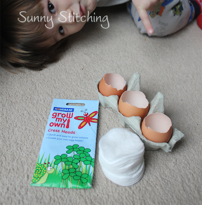 Cress Egg Heads : Sunny Stitching