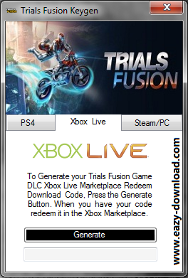 Trials Fusion Keygen - Xbox