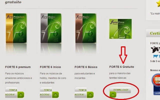 Software Editor de partitura Forte 6 premium