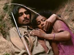 Nirmal Pandey as Vikram Mallah, Seema Biswas as Phoolan Devi, Bandit Queen, Directed by Shekhar Kapur