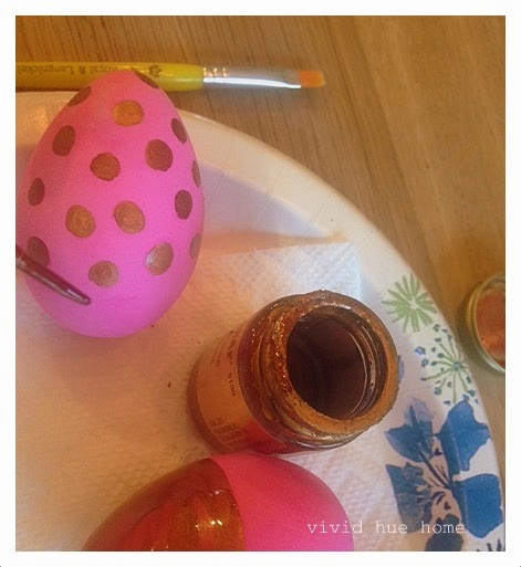 Vivid Hue Home How To Dye Faux Easter Eggs