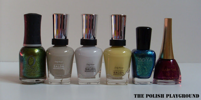 orly, sally hansen, zoya, golden rose
