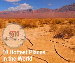 Top 10 Hottest Places in the World