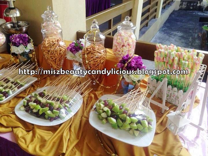 Candy Buffet Wedding Reception Gold Purple Miszbeauty