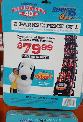 Save money when you buy Great America tickets at Costco