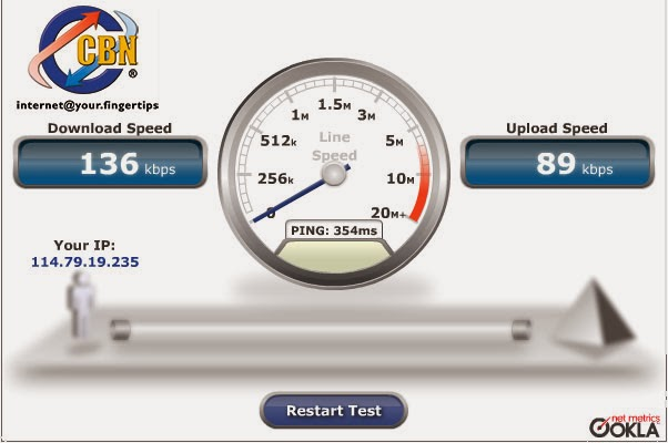 SmartFren 1x Speed Test