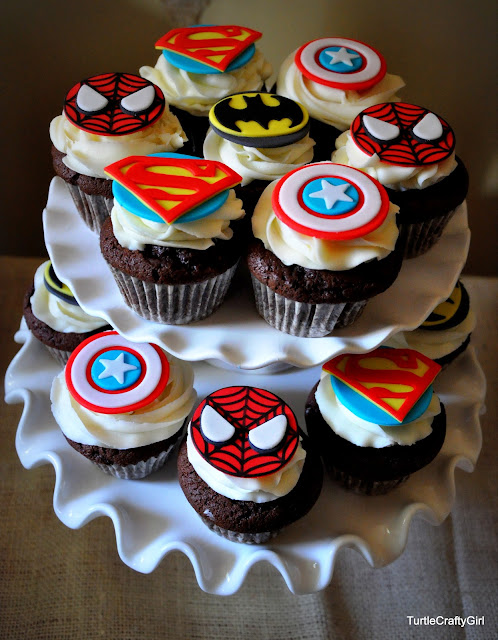 Cupcake Design For Birthday Boy : TurtleCraftyGirl: Super Hero Birthday Party