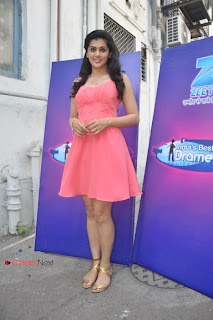 Tapsee Pannu Pictures in Pink Short Dress at Indias Best Dramebaaz Set  0002.jpg