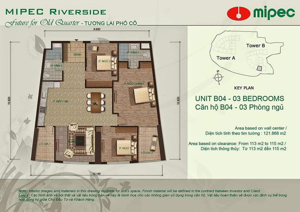 Căn B04 cư xá Mipec Riverside