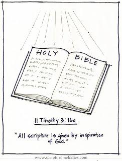 Scripture Melodies Coloring Pages