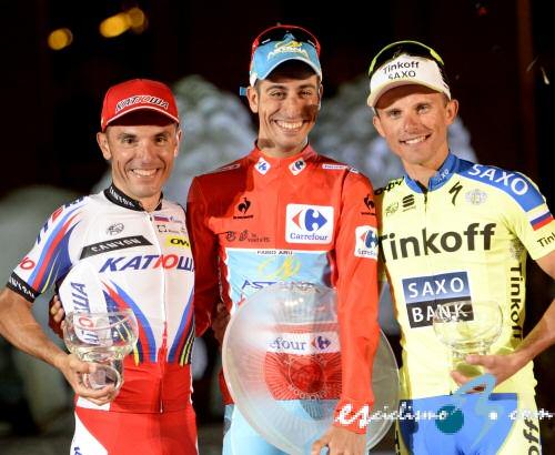 Podio Vuelta 2015