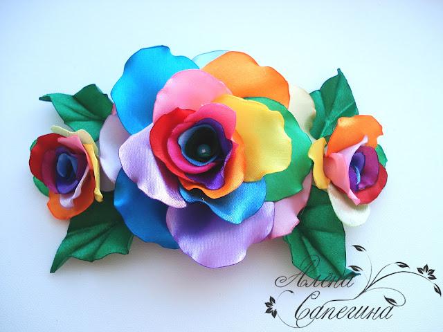 Радужный цветок своими руками