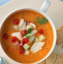 Maryland Crab, Mango and Cucumber Gazpacho