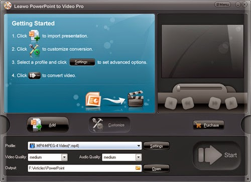 Run Leawo PowerPoint to Video Converter Pro